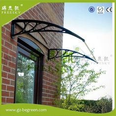 White Door Canopy Opaque Corrugated Awning Shelter Roof Front Back Porch Outdoor Shade Patio … Front Door Awning, Front Door Canopy, Porch Canopy, Window Canopy, Front Doors With Windows, Awning Canopy, Backyard Canopy, Garden Canopy, Window Awnings