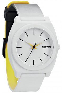 Nixon The Time Teller P Uhr (black white yellow) #skatedeluxe #sk8dlx #watch #NIXON