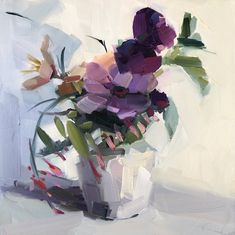 oil flower paintings by amy brnger. Lilac Bouquet, Mother's Day Bouquet, Orange Roses, Purple Roses, Black Roses, Sunflowers And Roses, Rose Flowers, Purple Mums, Roses Valentines Day