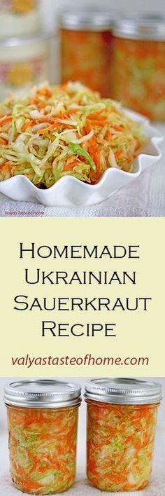 Homemade Ukrainian Sauerkraut Recipe http://valyastasteofhome.com/homemade-ukrainian-sauerkraut-recipe #homemade #sauerkrautrecipe #easy #delicious