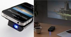 DLP micro projector that slips onto your phone almost without being noticeable. Not just a fancy decorative gimmick, the 400-PRJ011 comes with a 2,100mAh battery, which charges in around five hours and then gives you 2.5 hours of projector usage time.