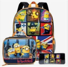 Frozen Backpack Set / Minions Backpack Set Only at Avon Minion Characters, Avon Brochure, Avon Online, Avon Rep, Stationery Set, Skin So Soft, Kids Gifts, Back To School, Bebe