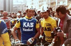"""classicvintagecycling: """" José Manuel Fuente rode for Kas Kaskol from 1971 to """" Vintage Cycles, Classic Image, Big Rings, Pro Cycling, Road Racing, Football, How To Wear, Men, Retro Bikes"""