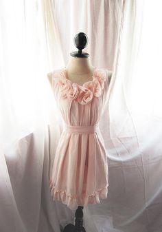 Blush rosette dress by River of Romansk