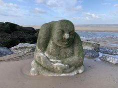 The Stone Ogre on Cleveleys beach - Visit Cleveleys Jubilee Gardens, Beach Watch, Out To Sea, Seaside Towns, Stone Sculpture, Go Green, Public Art, The Rock, Great Places