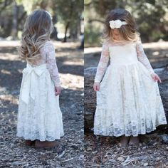 The elegant flower girl dresses which match the flowers-2016 vintage flower girl dresses gown for wedding cheap high quality illusion long sleeves lace little girls dress with sash sheer neckline is offered in forever_love_u and on DHgate.com fall flower girl dresses along with flower girl dresses brisbane are on sale, too.