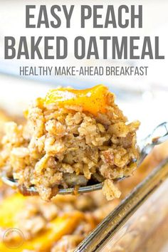 Baked Oatmeal#baked oatmeal#baked oatmeal recipes#baked oatmeal recipes breakfast#baked oatmeal recipes breakfast healthy#brown sugar baked oatmeal Breakfast Dishes, Breakfast Time, Healthy Breakfast Recipes, Brunch Recipes, Gourmet Recipes, Cooking Recipes, Peach Healthy Recipes, Breakfast Ideas, Oatmeal Breakfast Recipes