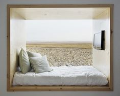 Alcove Bed maybe for the Back Barn? .... not into the fake beach mural though.