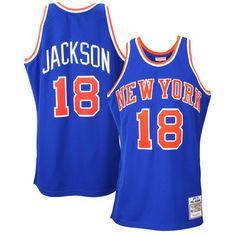 Mens New York Knicks Phil Jackson Mitchell & Ness Royal Blue 1972-73 Authentic Basketball Jersey