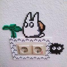 Totoro frame perler beads by jokesxnme