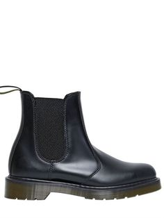 $244, Black Leather Chelsea Boots: Dr. Martens 30mm Chelsea Leather Boots. Sold by LUISAVIAROMA. Click for more info: http://lookastic.com/women/shop_items/134593/redirect