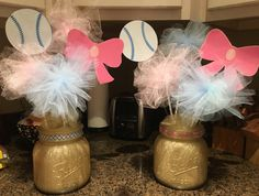 Gender Reveal Baby Shower Centerpieces