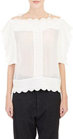 b6ec6243220 White Women s Audrina Short-sleeve Blouse