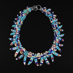 Wright's Indian Art: Reversible Inlaid Shell Necklace by Charlene Reano