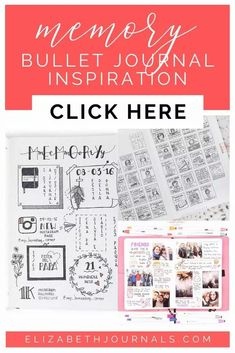 Have you ever thought about incorporating your scrapbooking into your bullet journal? Keep hold of our memories in written or visual forms is a great way to remind yourself of the good times and the bad times you learned a lesson from. It can also be a great outlet for creativity or processing an experience. This post will walk you through over 20 great examples of memory pages for your bullet journal! Memories With Friends, Photo Memories, Great Memories, Bullet Journal Layout, Bullet Journal Inspiration, Bullet Journals, How To Use Planner, Watercolor Border, Health Planner