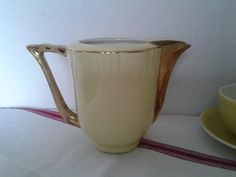 French Vintage...milk jug...Faience Nord d'Orchies by cheztoietmoi