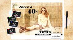 Du 24 mai au 02 juin Jusqu'a -40% sur la Collection IKKS été 2014 http://www.apresmidishopping.com/2_ikks-women.html