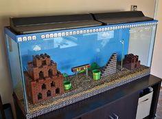Classic SUPER MARIO BROS. LEGO Aquarium — GeekTyrant