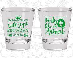 21st Birthday Shot Glass, Party like a animal, Animal Birthday Shot Glass, Birthday Shot Glass, Birthday Glass (20270)