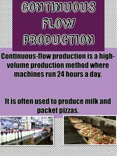 Continuous flow production