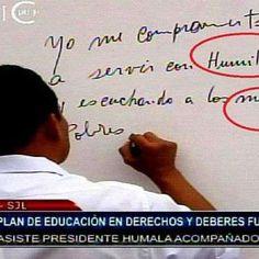 Ollanta Humala es criticado por faltas ortográficas