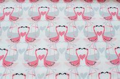 Flamingo+Love+von+Michael+Miller+von+birdsandbees-design++auf+DaWanda.com