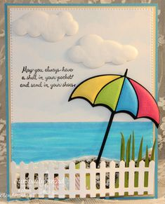 Stamps - Our Daily Bread Designs: Ocean Treasures, ODBD Custom Dies: Umbrellas, Fence, Clouds and Raindrops Making Greeting Cards, Greeting Cards Handmade, Weather Cards, Umbrella Cards, Nautical Cards, Beach Cards, Retirement Cards, Get Well Cards, Kids Cards