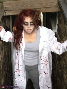 Anne: The whole family did the zombie theme And we had a lot of fun with make up. We had so much fun!!!.
