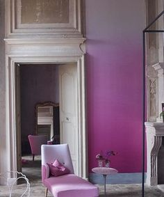 #RadiantOrchid ombre walls. Two trends in one!