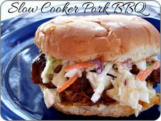 Slow Cooker Pork BBQ Recipe  I tried this twice now and its really good!
