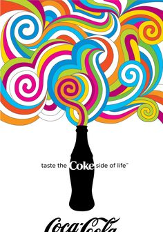 """Coke Side of Life"" Poster  Illustrator  Milton Glaser-inspired poster for Coca-Cola's 2007 ""Coke Side of Life"" Campaign."