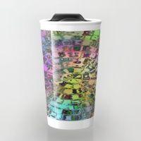Rainbow Circular Mosaic Travel Mug
