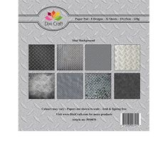 Pappersblock  - Dixi Craft - Steel Background  - 15x15cm