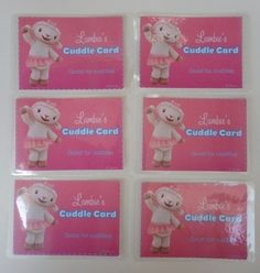 Doc McStuffins LAMBIE Cuddle Cards Laminated Set of 6 Party Favors Supplies NEW | eBay