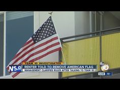 College student told to remove American flag from apartment balcony - YouTube