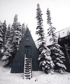 Steep A-frame   Anchor & Bolts #mountainlife #cabin #forest #snow Source IG @western_rise