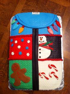 Ugly Christmas Sweater Cake :)