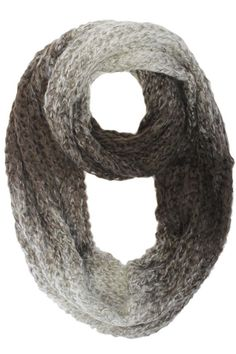 Gradient Ombre Winter Circle Scarf