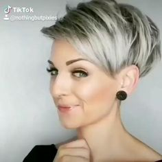 Layered Haircuts For Women, Short Pixie Haircuts, Short Hair Cuts For Women, Pixie Hairstyles, Short Hairstyles For Women, Braid Hairstyles, Hairstyle Ideas, Women Pixie Haircut, Undercut Hairstyles Women