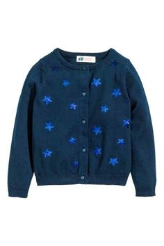 Cotton cardigan with sequins