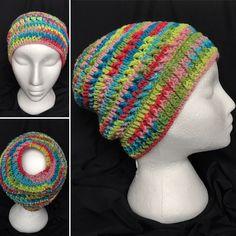 Messy Bun Hat made of sock weight yarn Fabric Gift Bags, Messy Bun, Hat Making, Sock, Crochet Hats, Beanie, Creative, Unique, Handmade