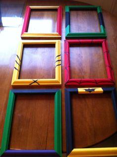 Hand painted superhero frames