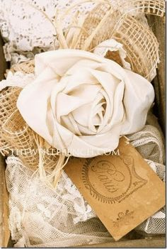 Fabric Bows and More: Ribbon Rose Tutorial by The White Bench