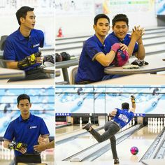 Kim soo hyun playing bowling ❤