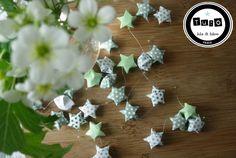 tuto gratuit étoiles origami + papier à télécharger / guirlande papier lila et lilou