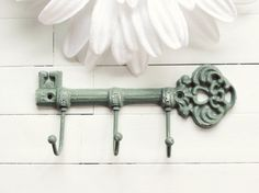 Cast Iron Key Hook / Iron Key / Skeleton Key / by ReformedMetals, $17.00