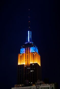 Empire State Building - Blue and Orange