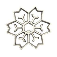 Rosette-Iron Mold, Cast Aluminum 2 in 1 Snowflake Design / Shape Rosette Irons - BakeDeco. Chef Supplies, Bakery Supplies, Kitchen Supplies, Rosette Cookies, Silicone Bakeware, Restaurant Equipment, Cake Decorating Supplies, Snowflake Designs, Rosettes