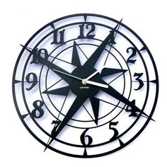 Dekoracyjny zegar ścienny Urlik Design Żeglarz ◾ ◾ PrezentBox