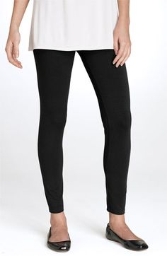 Eileen Fisher Stretch Ankle Leggings-Made in the USA
